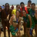 Equipe francisquense conquista 2º lugar no campeonato de Handebol de Areia em Guriri