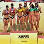 Taiana e Talita faturam ouro em Xangai no vôlei de praia