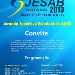JESAB 2013: jogos estaduais na AABB de Barra de São Francisco