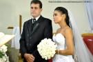 André e Ana Cristina se casam na Igreja Católica Sagrada Família, em Barra de São Francisco