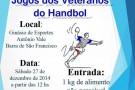 Veteranos do handebol se reúnem neste sábado(27) para jogo beneficente em Barra de São Francisco