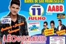 Grande show de Léo Nascimento na AABB em Barra de São Francisco