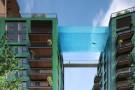 Prédios de luxo serão ligados por piscina de vidro a 35m do chão