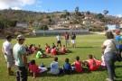 Projeto Bom de Bola e Bom na Escola recebe visita de professores de JIU-JITSU