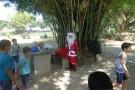 Adolescentes do Projeto Bom de Bola Bom na Escola de Vila Paulista tem dia especial