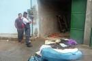 Casa pega fogo no Bairro Irmãos Fernandes, em Barra de São Francisco