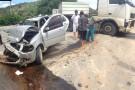 Acidente grave com Pálio e uma carreta em Barra de São Francisco