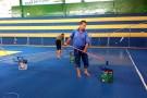 Ginásio de Esportes quase pronto para o Campeonato Perna de Pau 2016
