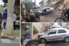Trânsito complicado de Mantena causa mais um acidente no centro da cidade