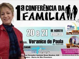 1ª Conferência da Família acontece neste fim de semana em Barra de São Francisco