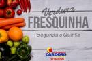 Verduras e frutas fresquinhas, todas as segundas e quintas-feiras no Supermercado Cardoso