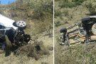 Motorista perde controle de veículo e despenca em ribanceira em Mantena