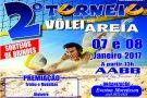 Neste sábado acontece o 2º Torneio de Vôlei de areia na AABB de Barra de São Francisco
