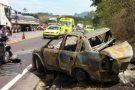"""""""Parecia cenário de filme vendo o carro todo queimado com os corpos carbonizados""""; diz francisquense que presenciou grave acidente em Ibiraçu"""