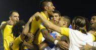 Paulinho faz 3 e Brasil vence Uruguai de goleada