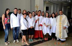 Monsenhor Edivalter, páscoa comunidade São José Operário