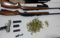 PM apreende armas, munições e drogas em Ecoporanga e Barra de São Francisco