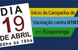 Vacinação contra Influenza começou nesta quarta-feira (19), em Ecoporanga