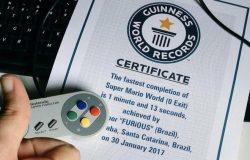Brasileiro entra no Guinnes após terminar Super Mario