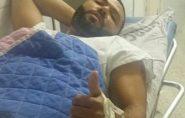 Locutor Wanderson Correia sofre acidente no centro de Mantena