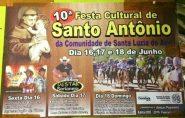 Vem aí a 10° Festa de Santo Antônio em Água Doce do Norte