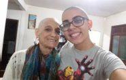 ES: netos raspam a cabeça para dar força à avó com câncer
