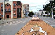JÁ ESTÁ PRONTO O TAPETE DE CORPUS CHRISTI, Barra de São Francisco
