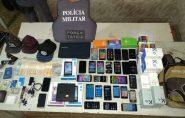 ES: após troca de tiros, assaltante é preso com 59 celulares