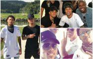 De férias, Neymar e Gabriel Jesus vão a Vitória para show de Thiaguinho