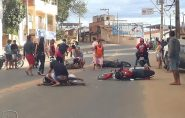 Grave acidente com motos em São Gabriel da Palha
