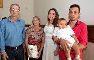 Celebração com batismo na comunidade São José Operário. Confira as fotos