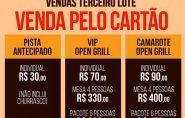 Open Grill: último dia para comprar ingressos do 3º lote para o show de Bruna Viola