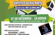 3º Campeonato de Futebol Sintético do Rio Preto terá premiação de R$ 2 mil em dinheiro