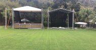 Estrutura quase pronta para o 1º Open Grill na Fazenda Corteletti