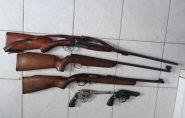 Polícia Militar apreende armas e munições no centro de Águia Branca