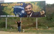 Águia Branca e Mantena: outdoor com imagem de Bolsonaro é ilegal, segundo MPF-ES