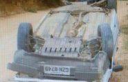 Homem capota carro no interior de Mantena