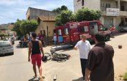 Homem sofre grave acidente com moto no bairro Bambé, em Barra de são Francisco
