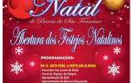 Abertura dos Festejos Natalinos acontece nesta sexta-feira em Barra de São Francisco