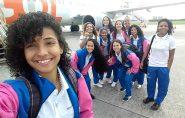 Meninas do Futsal de Barra de São Francisco embarcam para Brasília para mais uma disputa representando o ES