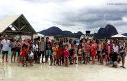 Alunos da Escola Santo Antônio (Tatu) ganham festa com café da manhã, churrasco, brincadeiras e piscina. Confira as fotos
