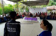 POLÍCIA MILITAR E ESCOLA PROMOVEM DIA DE LAZER PARA ALUNOS, confira as fotos