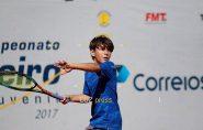 Garoto francisquense Caio Teixeira, de apenas 12 anos, é 1º no Ranking Capixaba de Tênis