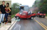 Casal morre após veículo bater em ônibus da Viação Águia Branca em São Domingos do Norte