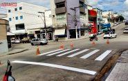 Com iniciativa da CDL, faixas de pedestres são restauradas em Ecoporanga