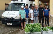Asilo de Barra de São Francisco recebe hortaliças produzidas por detentos