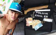 Jovem Raone Possatti é preso acusado de tráfico de drogas em Barra de São Francisco