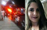Jovem Rafaella Delogo sofre grave acidente com moto no centro de Barra de São Francisco