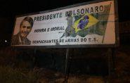 Justiça determina retirada de outdoor com imagem de Bolsonaro no Espírito Santo