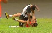 Brasil: jogador espanca gandula e confusão vira briga generalizada; veja o vídeo